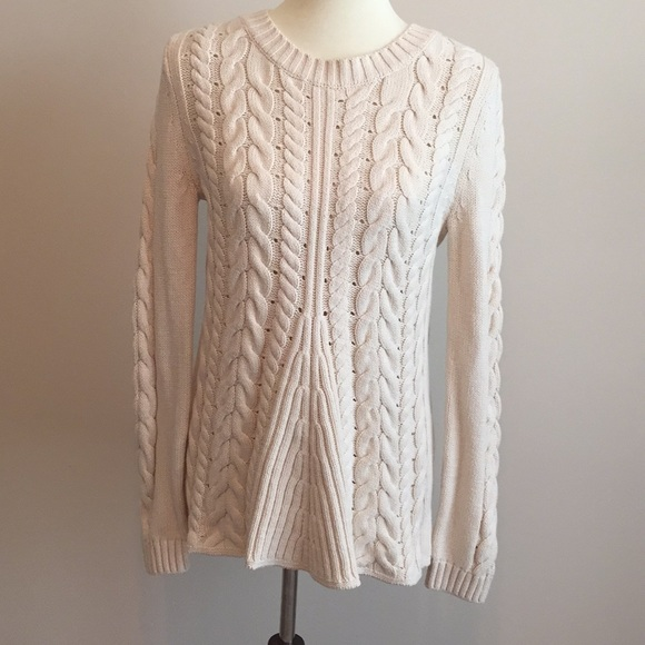 CAbi Sweaters - Cabi Cream Colored Lace-Up Back Sweater - Medium 8aac0bb4b